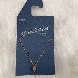 4/$20 Universal Thread Gold & Pink Stone Necklace